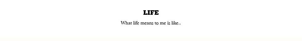 LIFEESTT